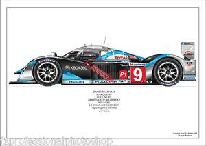 2009 Peugeot 908 HDI FAP Le mans winner- Brabham/Gene/Wurz ltd ed/250 art print