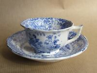 DAVENPORT C1825 BLUE & WHITE MINIATURE / CHILDS CUP & SAUCER (Ref3137)