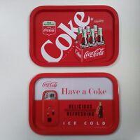 Coca-Cola Tin Trays (Pair of 2) - BRAND NEW
