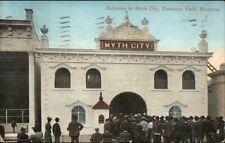 Montreal Quebec - Dominion Park Myth City Entrance c1910 Postcard