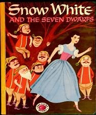 SNOW WHITE & THE SEVEN DWARFS ~ Vintage 1950's Children's Treasure Book ~ Nice!