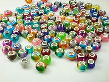 50pcs mix murano DIY Jewelry bead fit European Bracelet charm beads wholesale m8