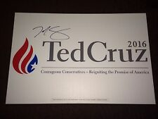 Ted Cruz Autograph Signed Stand for Truth Campaign Yard Sign 2016 President