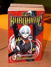 Kurohime vols 1-6 & Kuro Zakuro vol 1 manga, English ver.