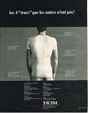 PUBLICITE ADVERTISING 035  1971  HOM   sous vetements slip homme