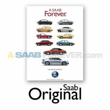 """NEW SAAB POSTER A SAAB FOREVER DEALER SHOWROOM ART 24""""X36"""" DISCONTINUED RARE"""