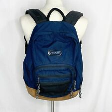 Outdoor Products Seamlock Navy Canvas Suede Leather Bottom Backpack Campus