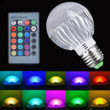 E27 15W RGB LED Light Color Changing Lamp Bulb 85 265V With Remote Control Sales