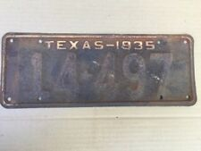 1935 TEXAS LICENSE PLATE PLATES ORIGINAL CHEVY FORD GMC HOT RAT STREET ROD 35