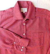 "Burgundy herringbone soft flannel shirt Collar size 16.5"" Oxford Shirt Company"