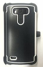 Ballistic Tough Jacket Maxx Hardshell Cover Case for LG G3 + Holster -Grey/White