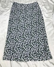 Jones New York Sport Skirt Size 14 Daisies Long Flowy Lined Slip Attached