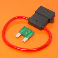 High Quality Maxi Blade Fuse Holder with 30 Amp Green Fuse Car Van Boat Fuses