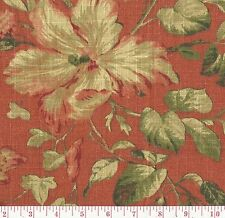 Raymond Waites Granduca Rouge Red Jacobean Floral Print Home Decor Fabric BTY