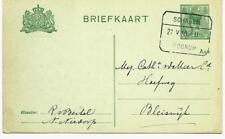 Tramblokstempel Schagen - Wognum II Schaars Nieuwe Niedorp 1918 Bleiswijk
