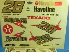 BRAND? WATERSLIDE DECALS 1/24 1:24 Vintage NASCAR 28 Havoline TEXACO THUNDERBIRD