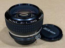 Nikon Nikkor 50mm f/1.2 MF Lens Original AIS - Super Clean !
