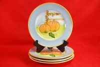 "Mesa International PUMPKIN HARVEST LUNCH PLATES (Set of 4) 9"" Made in Hungary"
