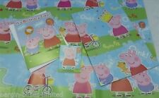 PEPPA PIG BIRTHDAY GIFT SET BIRTHDAY CARD,2 SHEETS WRAPPING PAPER,GIFT TAG