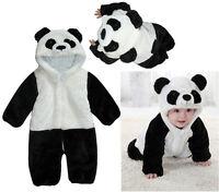 Winter Panda Warm Jump Suit for Boy Girl Baby Hooded Coat Siamese Romper Outwear