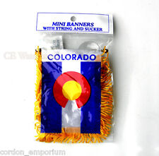 Colorado Mini Polyester Us State Flag Banner 3 X 5 Inches