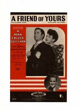 "LINDA DARNELL - GREG MCCLURE -""  A FRIEND OF YOURS "" - SHEET MUSIC"