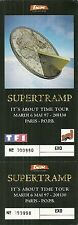 RARE / TICKET DE CONCERT LIVE - SUPERTRAMP PARIS BERCY 6 MAI 1997 / COMME NEUF