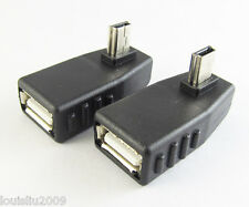Mini 5pin USB Male To USB 2.O Female OTG Right Angle Adapter Connector 1pc