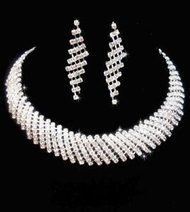 BRIDAL/WEDDING  Crystal/Diamonte Necklace Set *158*