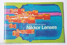 Nikon Nikkor Lenses Brochure Literature Sales Booklet  - English - USED B3