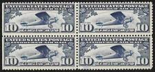 Charles Lindbergh 'Spirit of St Louis' Airmail Stamps1927. Block of 4 Unused.