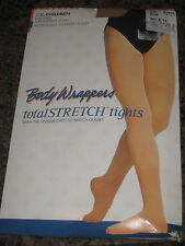 BODY WRAPPERS TOTAL STRETCH TIGHTS C30 CHILDREN FOOTED SUNTAN   S/M  NWT