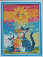 Counted Cross Stitch Kit Cats Under The Sun 2