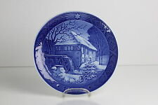 Royal COPENHAGEN PIATTO DI NATALE 1976 CHRISTMAS PLATE PORCELLANA Water-Mill