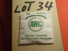 AWC HIGH ROUND PLASTIC WATCH STEP CRYSTAL  30.8 MM NOS