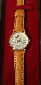 1987 MICKEY MOUSE SIXTY YEARS WITH YOU ANNIVERSARY LORUS WOMENS COLLECTORS WATCH