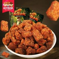 Chinese Food Snacks Beef Granules Sanzhisongshu 卤味牛肉干香辣/XO酱味 三只松鼠牛肉粒110g*2 Ske15
