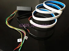 2-color flow type DRL on Trunk box with Side Turn Signals Rear lights LEDs Strip