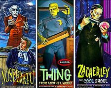 Aurora Monster Kits Nosferatu, The Thing, Zacherley Magnet or Sticker