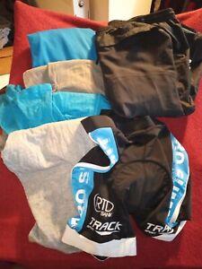 Mens Biking Clothes - 4 T Shirts, 1 Gore Tex Shorts, 1 Lining