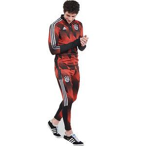 adidas Bayern Munich 2020-21 Training Pants Soccer Football Black Red GK8624 2XL
