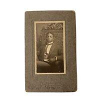 Antique Victorian/Edwardian African American Gentleman Black Cabinet Card
