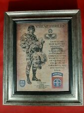 """Mc-Better: Army Airborne """"Cheap Thrills"""" 82nd Airborne Div. Framed Personalized"""