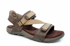 MERRELL TERRANT MENS BROWN LEATHER HIKING SANDALS Brown