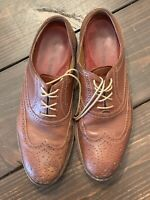 Johnston & Murphy 15-4703 Oxford Wingtip Brown Leather Dress Shoes Mens Sz 9.5M