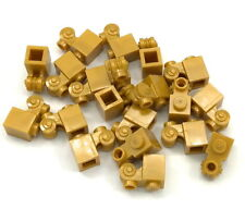 LEGO LOT OF 20 PEARL GOLD 1 X  MODIFIED BRICKS WITH SCROLL PIECES