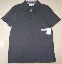 New Small Silver Lake Polo Shirt Gray Cotton Polyester Men 4-Button Short Sleeve