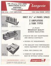 Langevin Sales Brochure 'Type 5116-5117 Amplifier / Type 5206 Power Supply'