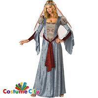 Womens Ladies Maid Marian Robin Hood Halloween Fancy Dress Party Costume