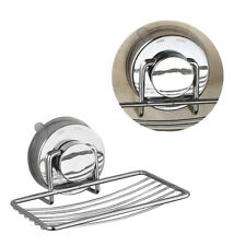 1pc Storage Box Practical Suction Cup Durable Stainless Steel Holder for Kitchen